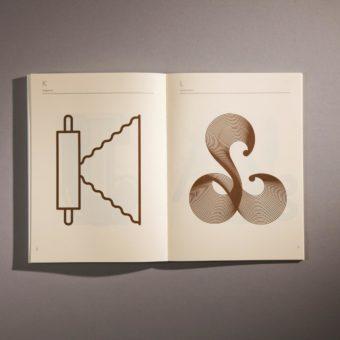 food chocolate design interno alfabeto