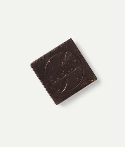 Cioccolatino fondente biologico 75% cacao con zucchero Panela 4