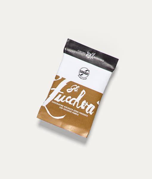 Cioccolatino fondente biologico 75% cacao con zucchero Panela 3