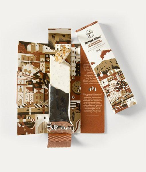 Torrone bianco con mandorla romana di Noto e fave di cacao Nacional 3