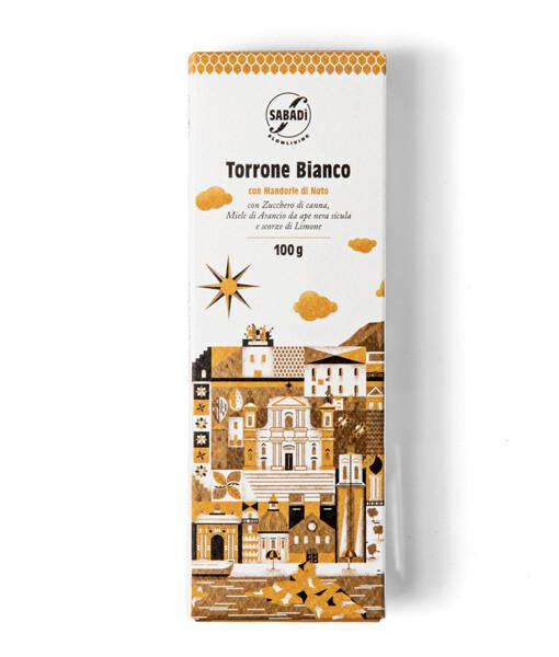 Torrone siciliano morbido con mandorla romana di Noto, miele e scorze di limone
