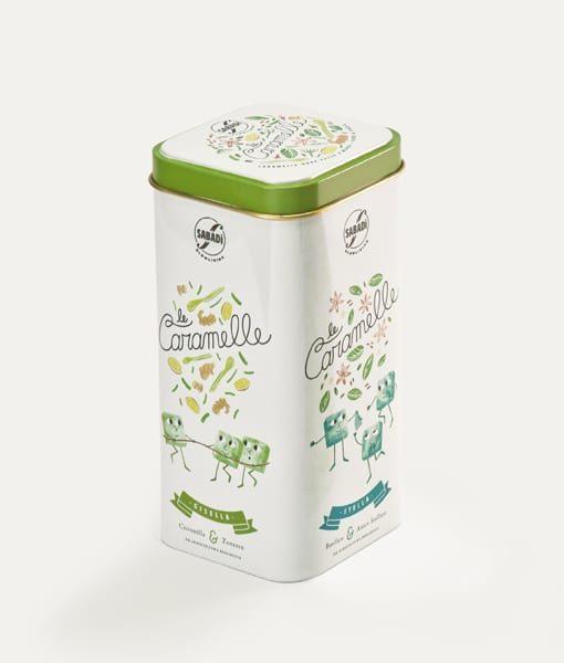 Scatola in latta di caramelle biologiche assortite - Erbe e Spezie 3