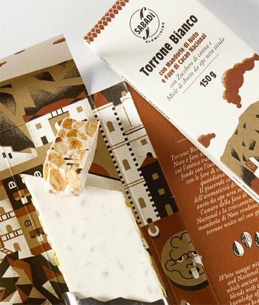 Torrone bianco con mandorla romana di Noto e fave di cacao Nacional 4