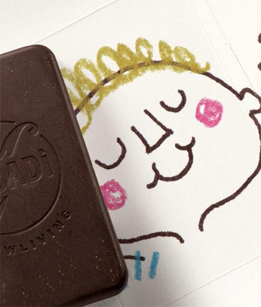 Cioccolato al latte BIO lavorato a freddo – 48% cacao – TATO 1